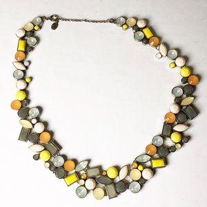 Loft statement necklace multi color stones